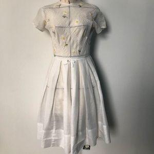 1950s daisy dress. Sheer. Spring.